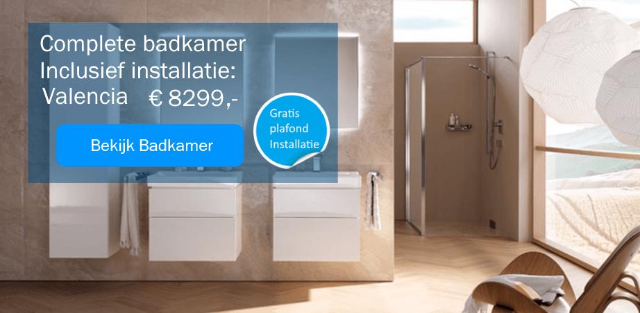 Complete badkamers met installatie Valencia