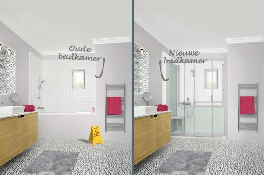 Badkamer oud en nieuw
