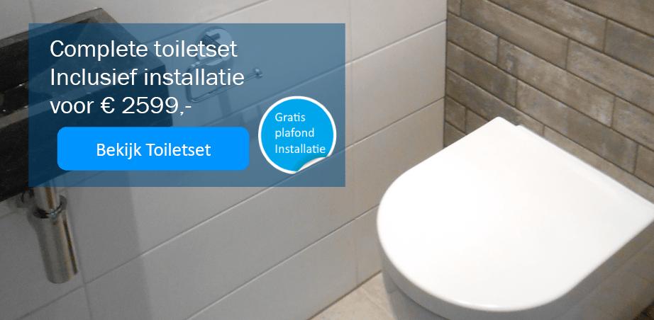 Toiletset inclusief € 2599